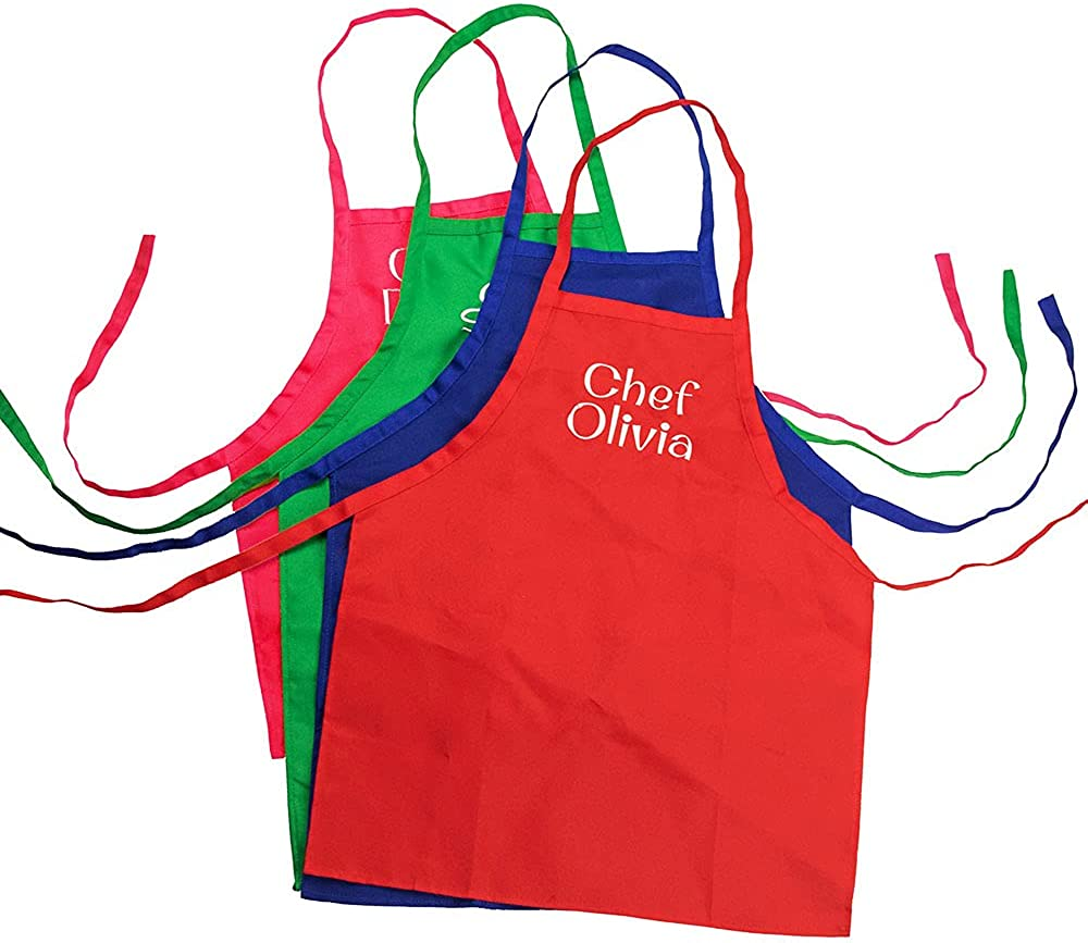 Custom Department store Kids Apron Japan Maker New Set with Embroidered Hat Chef Personalized Apr