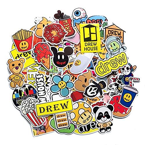 LSHLSH Etiquetas engomadas decorativas con diseño de estrellas europeas y americanas alrededor de Justin Bieber Graffiti Sticker 50