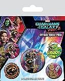 Guardians of the Galaxy Vol. 2 - Rocket & Groot, Abzeichen, 10 x 12.5 cm -