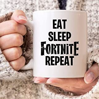 Eat Sleep Fornite Repeat PUBG Player Unknown Battlegrounds Gaming Mug