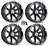 MSA M12 Diesel UTV Wheels/Rims Black 14' Polaris RZR 1000 XP/Ranger XP 900/1000