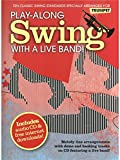 Play-Along Swing With A Live Band! - Trumpet. Partitions, CD pour Trompette