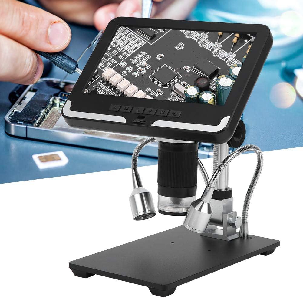 Cuifati Microscopio Digital Reparación de teléfonos La Soldadura de PCB Puede Reducir el Reflejo y la luz parásita AD206 USB Enchufe de la UE 110-240V Microscopio