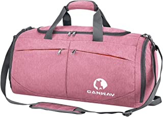 CANWAY ボストンスポーツバッグ ジム 旅行シューズ収納バッグ2way超軽量 乾湿分離45L