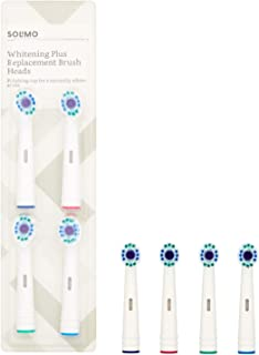 Marca Amazon -Solimo Cabezales de cepillo de dientes Whitening Plus, 2 packs de 4 cabezales