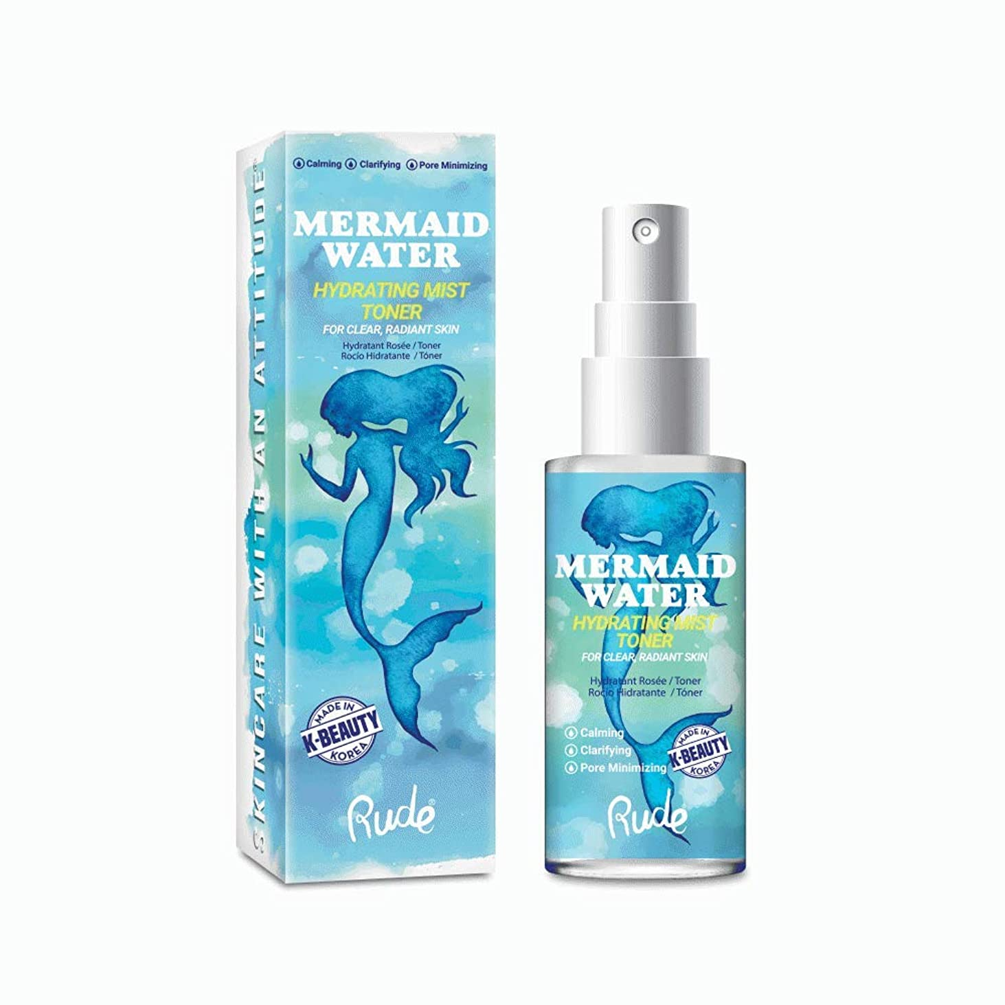 糞短くする銀行(3 Pack) RUDE Mermaid Water Hydrating Mist Toner (並行輸入品)