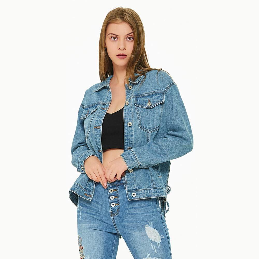 Women's Hollow Denim Jacket Loose Bf Wild Heavy new loose cut-out open back tassel