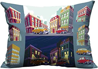YouXianHome Zippered Pillow Covers Cartoon The Tori urb Area Decorative Couch(Double-Sided Printing) 20x35.5 inch