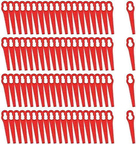 Lames en Plastique de Rechange pour Coupe-Bordures 80 Lames de Coupe en Plastique de Remplacement, Tondeuse à Gazon en Plastique Lames, Lames de Grass Trimmer Brush Cutter