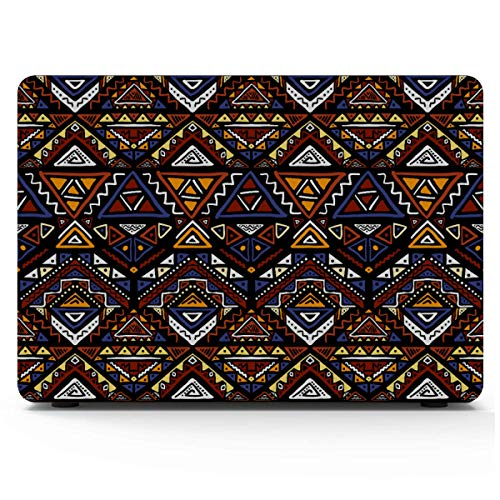 Macbook Pro 15 Cover Bright Colored Seamless Tribal Aztec Laptop Hard Case Hard Shell Mac Air 11'/13' Pro 13'/15'/16' With Notebook Sleeve Bag For Macbook 2008-2020 Version