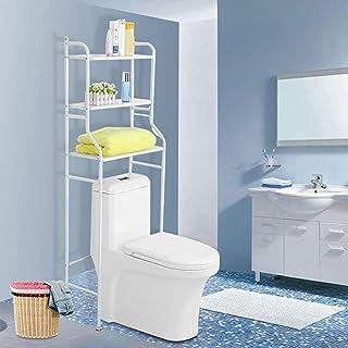 FANQIE Gabinete Encima del Inodoro, la Capa de estantería de baño 3, WC WC, Mueble de baño con estantería de Almacenamiento, 56 x 25 x 151cm,White