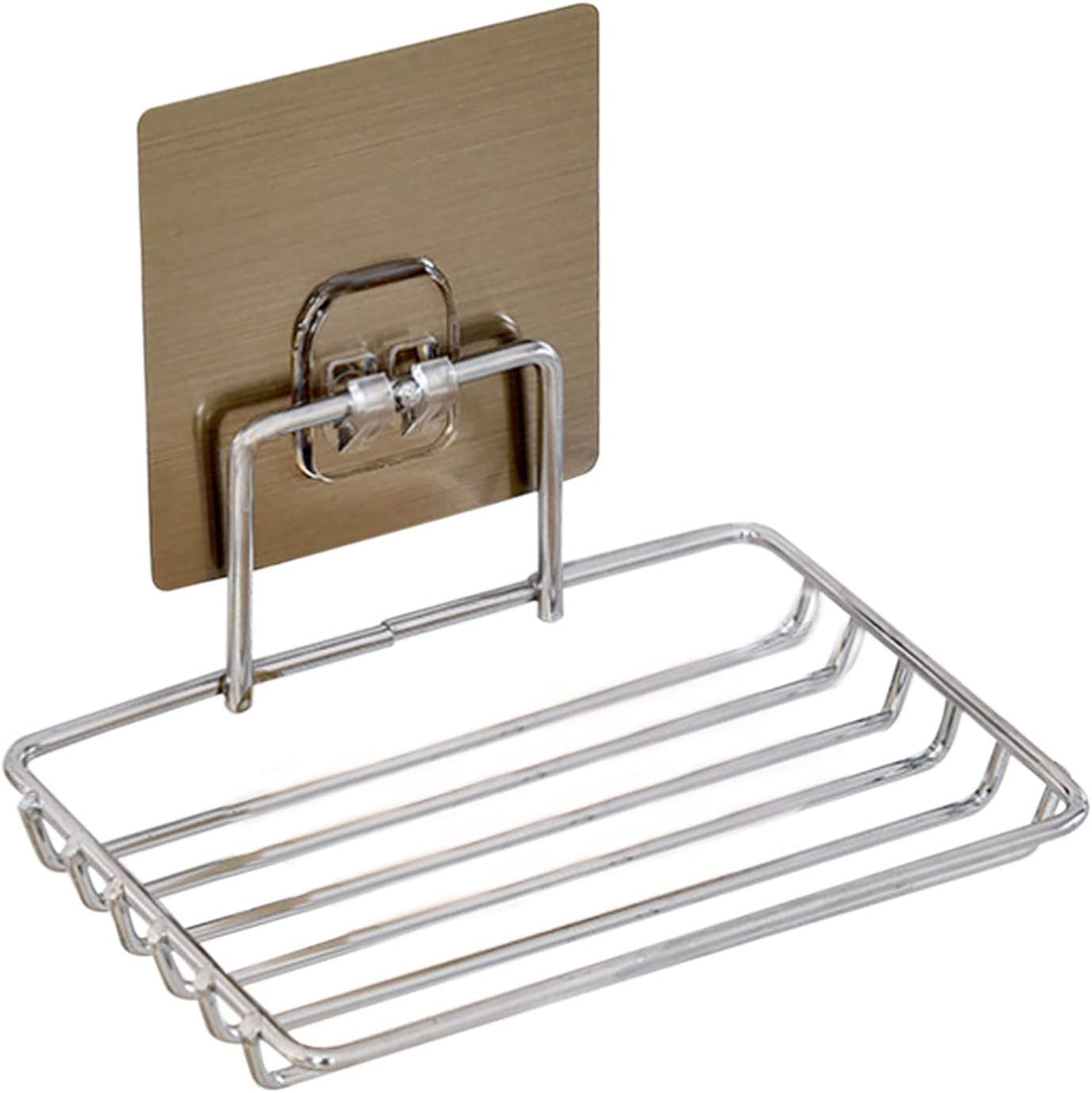 Yansanido Steel Soap Dish Holder Strong Powerful online shopping Super Adhesive At the price of surprise