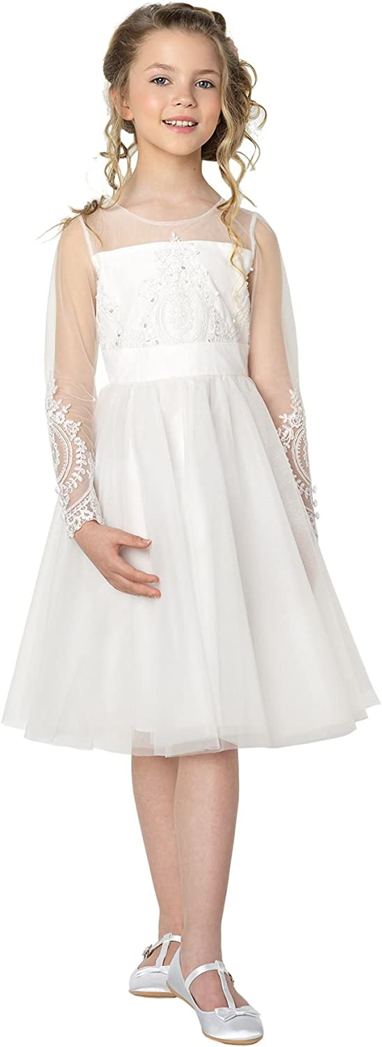 Paisley of London, Olivia Ivory Occasion Dress, Formal Flower Girls Dress, 3 – 10 Years