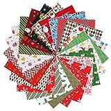 Tacobear 24 Stück 25x25cm Weihnachtliche Baumwollstoff