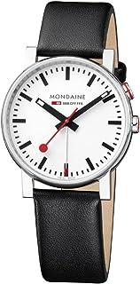 Mondaine - SBB Evo Alarm 40mm A4683035211SBB Reloj de pulsera Cuarzo Hombre correa de Cuero Negro