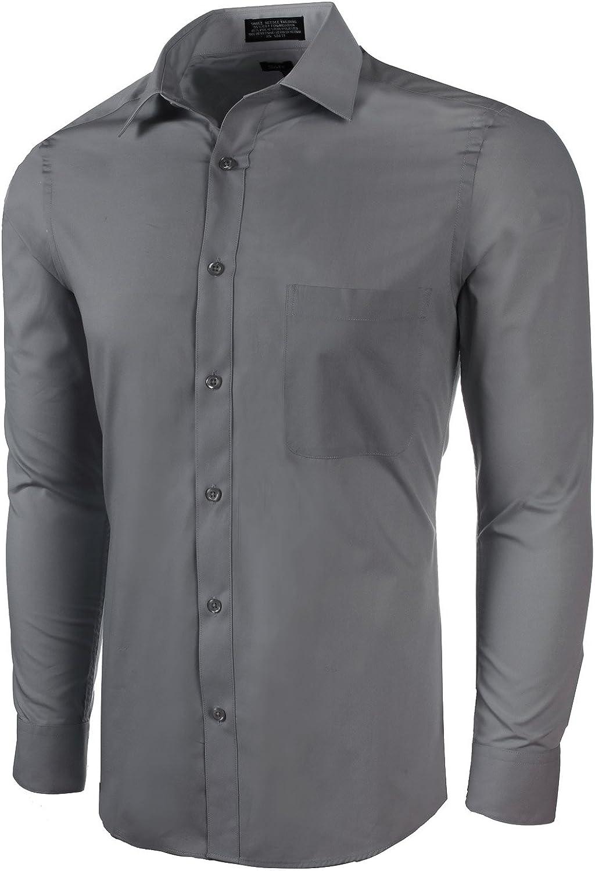 Marquis Men's Basic Slim Fit Dress Shirt