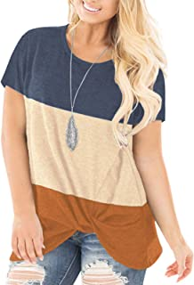 Plus-Size Tops for Women Summer Short Sleeve Shirts...