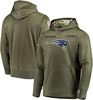 Littlearth New England Patriots Salute to Service Sideline Therma Performance Pullover Hoodie for Men Women Youth Men L