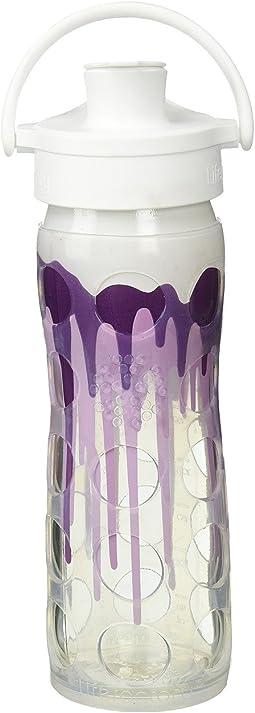 Lifefactory Glass Bottle Ombre/Splash with Active Flip Cap 16 oz.