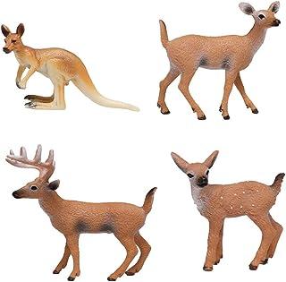 2pcs Singe Kangourou Figurine Animal Sauvage Figure Jouets Simulation Décor