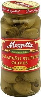 Mezzetta Jalapeno Stuffed Olives 10-ounce Jars (Pack of 6)