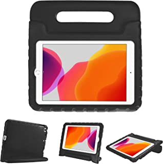 """ProCase Kids Case for iPad 7th Gen 10.2"""" 2019 / iPad Air 10.5"""" (3rd Gen) / iPad Pro 10.5"""", Shockproof Convertible Handle Stand Cover Light Weight Kids Friendly Case for iPad 10.2 Inch/Air 3 -Black"""