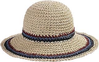 ZOO 女性用折りたたみ式日よけ用ホリデーサンシェード用麦わら帽子