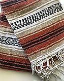 Mexitems Mexican Falsa Blanket Authentic 52' X 72' Pick Your Own Color (Orange/Tan/Black)