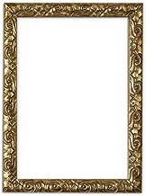 Bilderrahmen in Gold - A3 - Antik-Look mit Verzierungen / Posterrahmen / Fotorahmen aus bruchsicheren Plexiglas aus Styrol für hohe Klarheit & Rückwand aus MDF