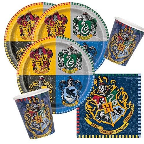 Unbekannt 32-teiliges Party-Set Harry Potter - Teller Becher Servietten für 8 Kinder
