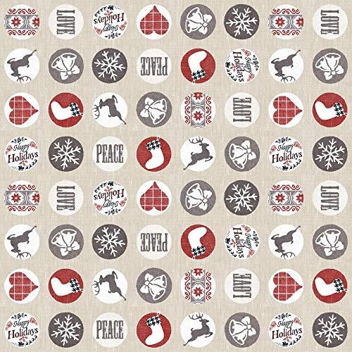 Vlag Home tafelkleed Mieke | van Linclass® Airlaid | Feest Advent Kerstmis Scandinavisch design | 80 x 80 cm, 1 stuk
