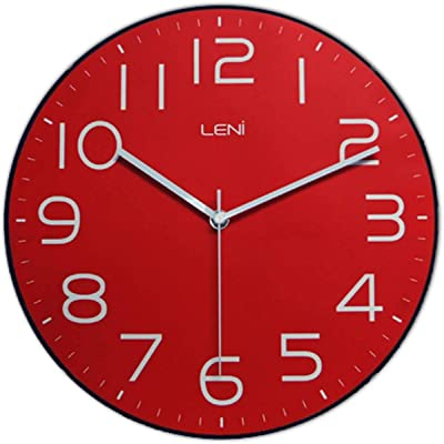 Leni 62023RED Classic Wall Clock Red
