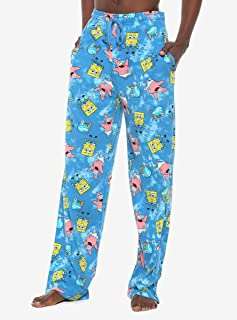 Spongebob Squarepants Blue Tie-Dye Pajama Pants
