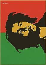 Decoración de la barra de café y muestra el transporte de música se combinan papel retro estilo Bob Marley Reggae,H218,42x30cm