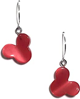Mickey or Minnie Mouse Drop Earrings | Vintage Red Moonglow Lucite Jewelry