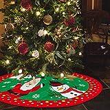 Falda de árbol de Navidad de 36 pulgadas para árbol de Navidad Falda para decoración de feliz Navidad Decoración de fiesta de Navidad (96 cm)