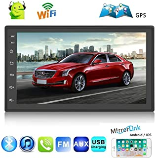 2 Din Car Stereo Android 8.1 Universal Car Radio Support GPS Navigation Rear Camera (camera not included) Multimedia Player 7 HD Touch Screen 1G+16G With Bluetooth WIFI FM AUX SD 2 USB Radio Receiver