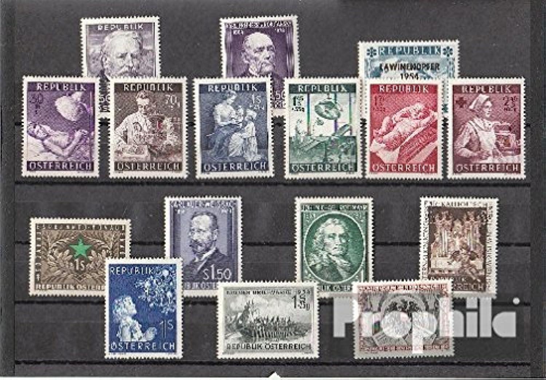precioso Prophila sellos para para para coleccionistas  Austria 1954 nuevo con goma original completo año en limpio conservación  tienda de venta