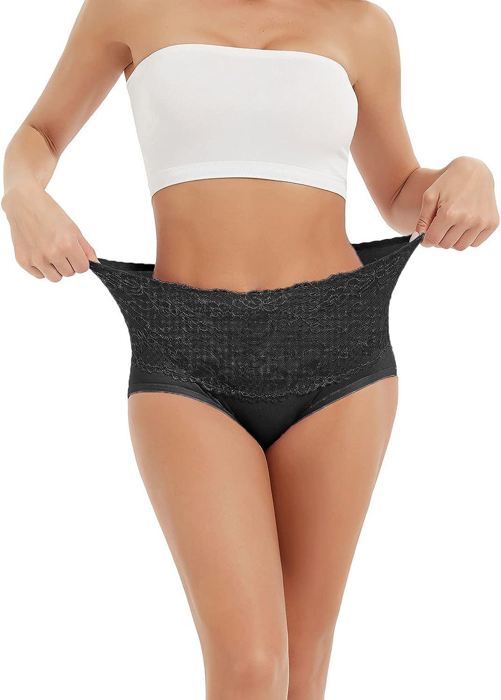 Changeshopping 4PC Panties for Women,Women High Waist Tummy Control Panties Underwear Shapewear Brief Panties