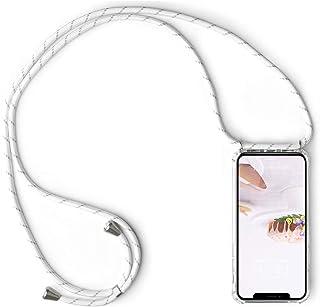 Caler Telefoonhoes, compatibel met Samsung Galaxy S10, met ketting, koord, halsband, transparante telefoonhoes met halsket...