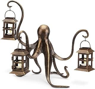 Spi Home Octopus Lantern,Brown,13.5