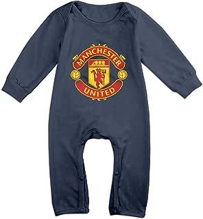 Eronp Baby Bodysuit Manchester United FC Long-Sleeve Romper T-Shirt