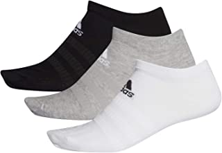 adidas Women's Light Low 3pp No Show Socks, Grey (Medium Grey Heather/White/Black), 40-42 EU