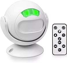 NineLeaf 1 Pack Wireless PIR Motion Sensor Entrance Alert Chime Home Welcome Doorbell for Shop, Office, Villa, Restaurant - IR Remote Control, 36 Melodies, Volume Adjustable, LED Night Light Mode