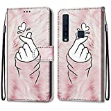 ShinyHülle für Samsung Galaxy A9 2018,Lederhülle Brieftasche Handyhülle ID Kartenfächer Magnetischer Etui Protective Anti-Scratch Schutz PU Leder Hülle für Samsung Galaxy A9 2018 -Liebe Zeigen