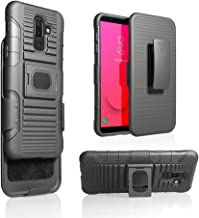 For Samsung Galaxy J8 2018 Release (SM-J810) Magnet Mount Ready Ring Armor Holster 5 in 1 Rugged Case With Ring Holder Kickstand + Belt Clip