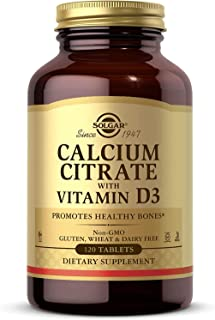Solgar Calcium Citrate with Vitamin D3, 120 Tablets - Promotes Healthy Bones & Teeth, Supports Musculoskeletal & Nervous S...