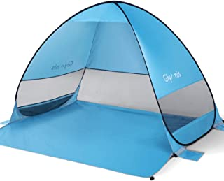 Glymnis Pop Up Beach Tent Sun Shelter Beach Shade Portable Tent with UPF 50+ for Outdoor Activities Beach Traveling Blue