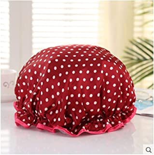 LBLMS Cooking in The Kitchen Cooking Oil Cap, Waterproof Fume Hoods, Bathing Caps, Bath Hat Shower Cap Adult Female Models (Color : G)