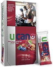 UCAN Energy Bars - Long Lasting Energy, No Added Sugar, Non-GMO, Vegan, Gluten Free, Keto Friendly w/ SuperStarch - 12 Count (Cherry Berry Almond)